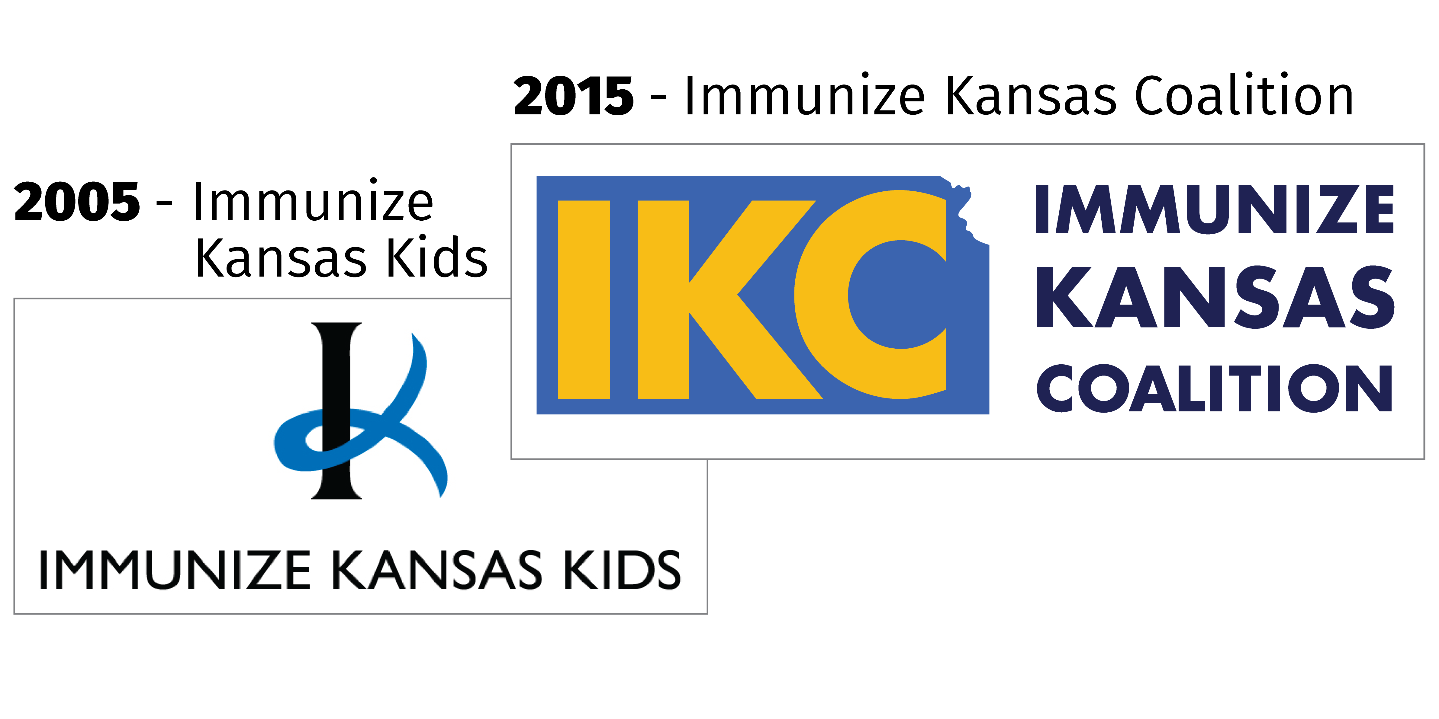 Immunize Kansas Kids logo and Immunize Kansas Coalition logo